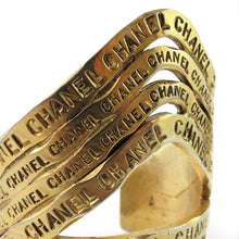 Load image into Gallery viewer, Rare and decadent vintage Chanel gold-plated cuff bracelet c. 1990s