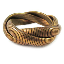 Load image into Gallery viewer, USA Vintage Brass Coil Bracelet c. 1950's