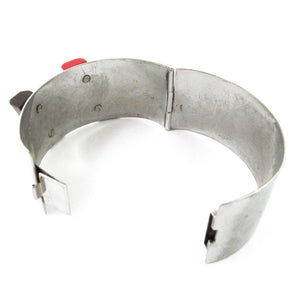 Vintage 1930's Jakob Bengel Cuff - Galalith and Chrome