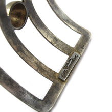 Load image into Gallery viewer, Signed Nettie Rosenstein Deco style cuff in gilt sterling c. 1940