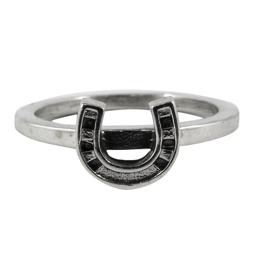 William Griffiths Sterling Silver Small Horseshoe Stack Ring