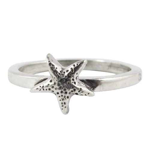 William Griffiths Sterling Silver Small Star Fish Stack Ring