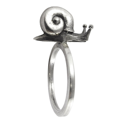 William Griffiths Sterling Silver Snail Stack Ring