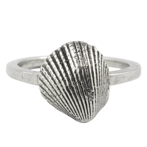 William Griffiths Sterling Silver Sea Shell Stack Ring