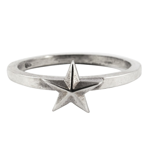 William Griffiths Sterling Silver Small Star Stack Ring