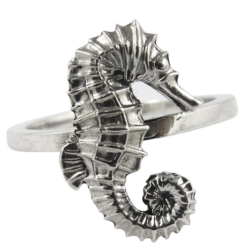 William Griffiths Sterling Silver Large Seahorse Stack Ring