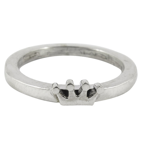 William Griffiths Sterling Silver Small Crown Stack Ring
