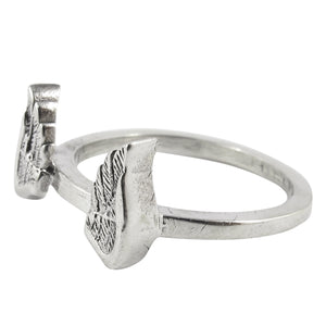 William Griffiths Sterling Silver Small Angel Wings Stack Ring