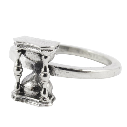 William Griffiths Sterling Silver Small Hourglass Stack Ring