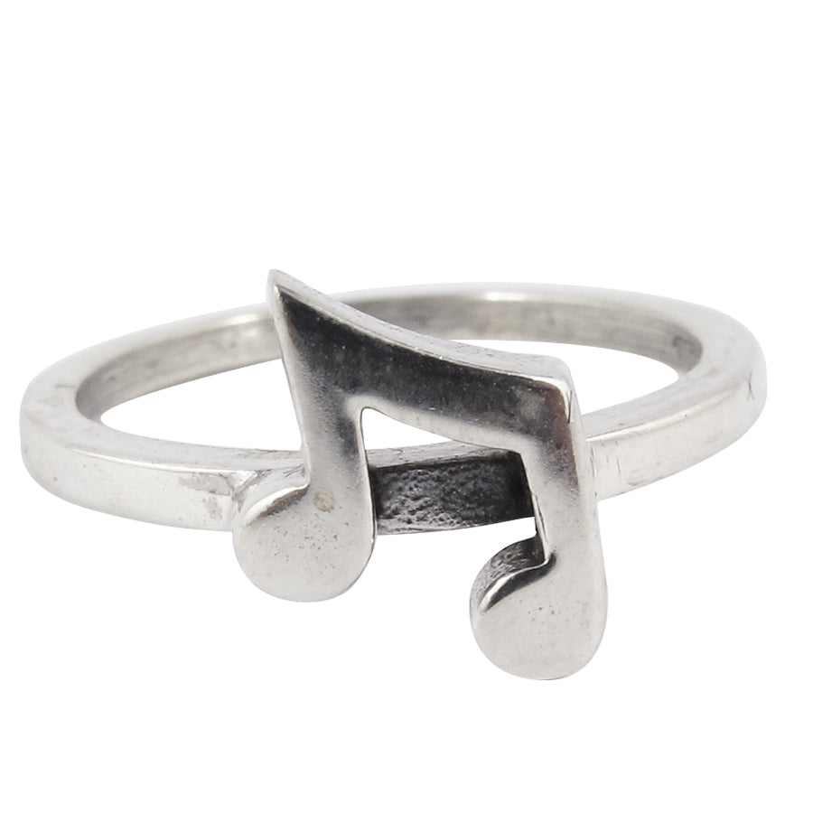 William Griffiths Sterling Silver Music Notes Stack Ring