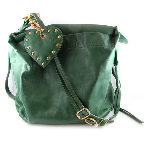 Vintage Vivienne Westwood London Green Leather Shoulder Bag