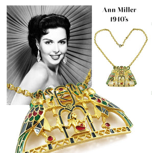 RARE - Vintage Signed 'Polcini' Egyptian Motif Necklace - Originally owned by Ann Miller