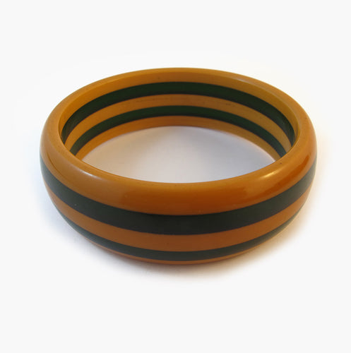 Vintage French Bakelite Bangle - Butterscotch Yellow