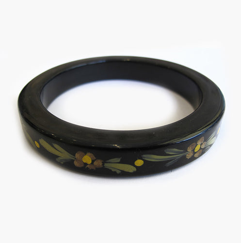 Vintage Hand Painted Bakelite Bangle