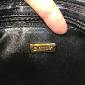 Bally Vintage Small Black Quilted Leather Purse Clutch c. 1990