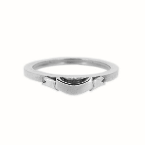 William Griffiths Sterling Silver Banner Stack Ring