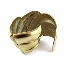 Load image into Gallery viewer, Vintage Gold Plated Half Hinged Cuff