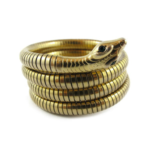 Vintage Gold Plated Snake Coil Bangle