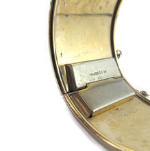 Load image into Gallery viewer, Antique Gold Filled Etched Clamper Bangle