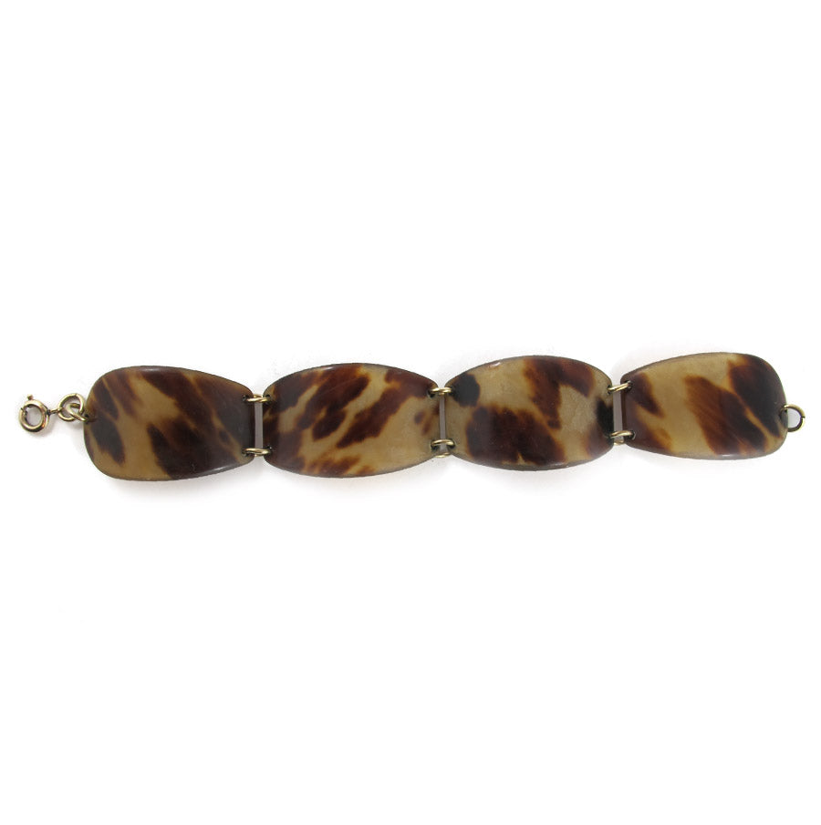 Vintage 1930's Authentic Tortoiseshell Linked Bracelet
