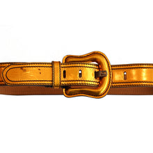 Load image into Gallery viewer, FENDI Belt - Metallic Patent Orange Leather c. 2000