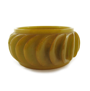 Vintage Bakelite Machine Carved Bangle
