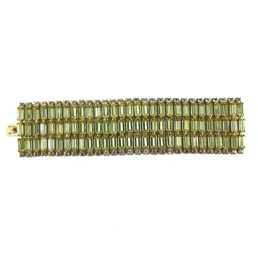 Harlequin Market Baguette Crystal Cuff - Jonquil