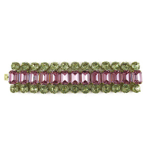Harlequin Market Crystal Cuff - Light Rose and Jonquil