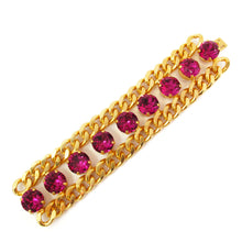 Load image into Gallery viewer, Harlequin Market Crystal Bracelet - Fuchsia Pink