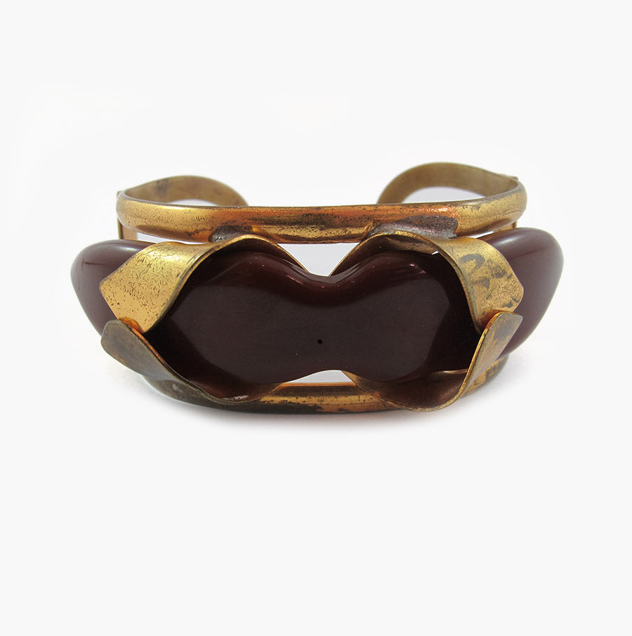Brown & Gold Cuff