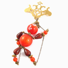 Load image into Gallery viewer, Vintage Beads Reassembled in the Form of a Puppet Brooch