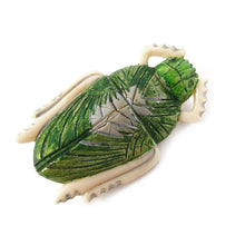 Load image into Gallery viewer, Vintage French Scarab Brooch c. 1930