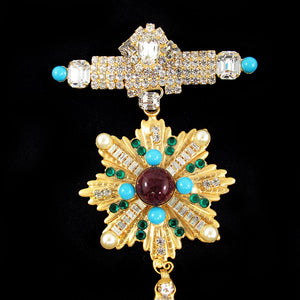 Signed Lawrence 'Vrba' Opulent Military Brooch