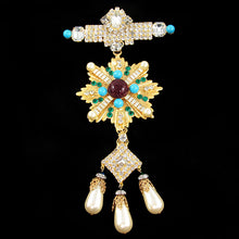 Load image into Gallery viewer, Signed Lawrence 'Vrba' Opulent Military Brooch