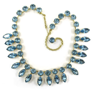 Harlequin Market Double Crystal Accent Necklace - Light Sapphire