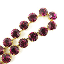 Load image into Gallery viewer, Harlequin Market Crystal Accent Necklace - Fuchsia (medium)