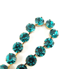 Load image into Gallery viewer, Harlequin Market Crystal Accent Necklace - Blue Zircon (medium)