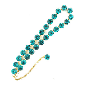 Harlequin Market Crystal Accent Necklace - Blue Zircon (medium)