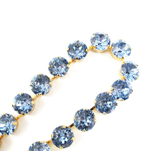Harlequin Market Crystal Accent Necklace - Light Sapphire (medium)