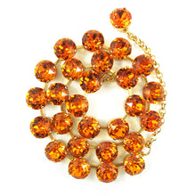 Load image into Gallery viewer, Harlequin Market Crystal Accent Necklace - Topaz (medium)