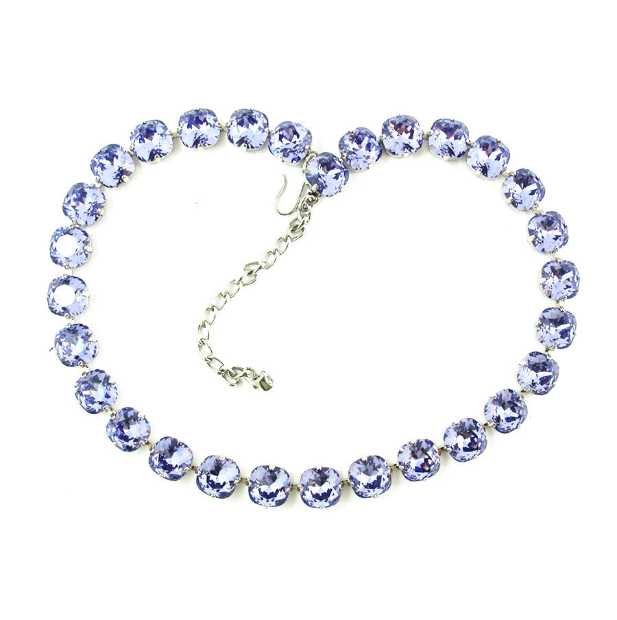 Harlequin Market Rounded Crystal Accent Necklace - Amethyst (medium)