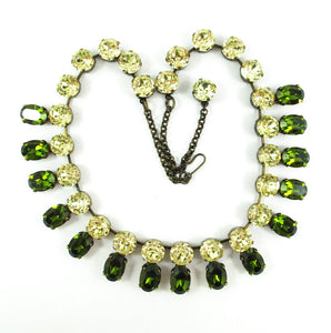 Harlequin Market Double Crystal Accent Necklace - Olivine and Jonquil