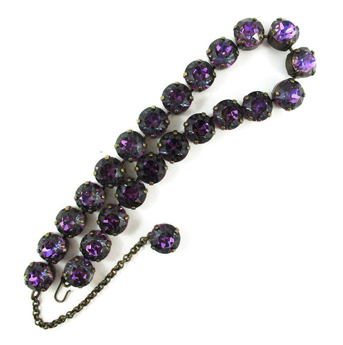 Harlequin Market Crystal Accent Necklace - Heliotrope (large)