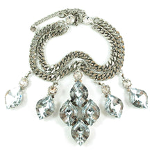 Load image into Gallery viewer, Harlequin Market Statement Crystal Accent Necklace - Clear