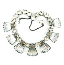 Load image into Gallery viewer, Harlequin Market Detail Crystal Accent Necklace - Black Diamond + Clear