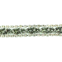 Load image into Gallery viewer, Harlequin Market Crystal Bracelet - Black Diamond + Clear