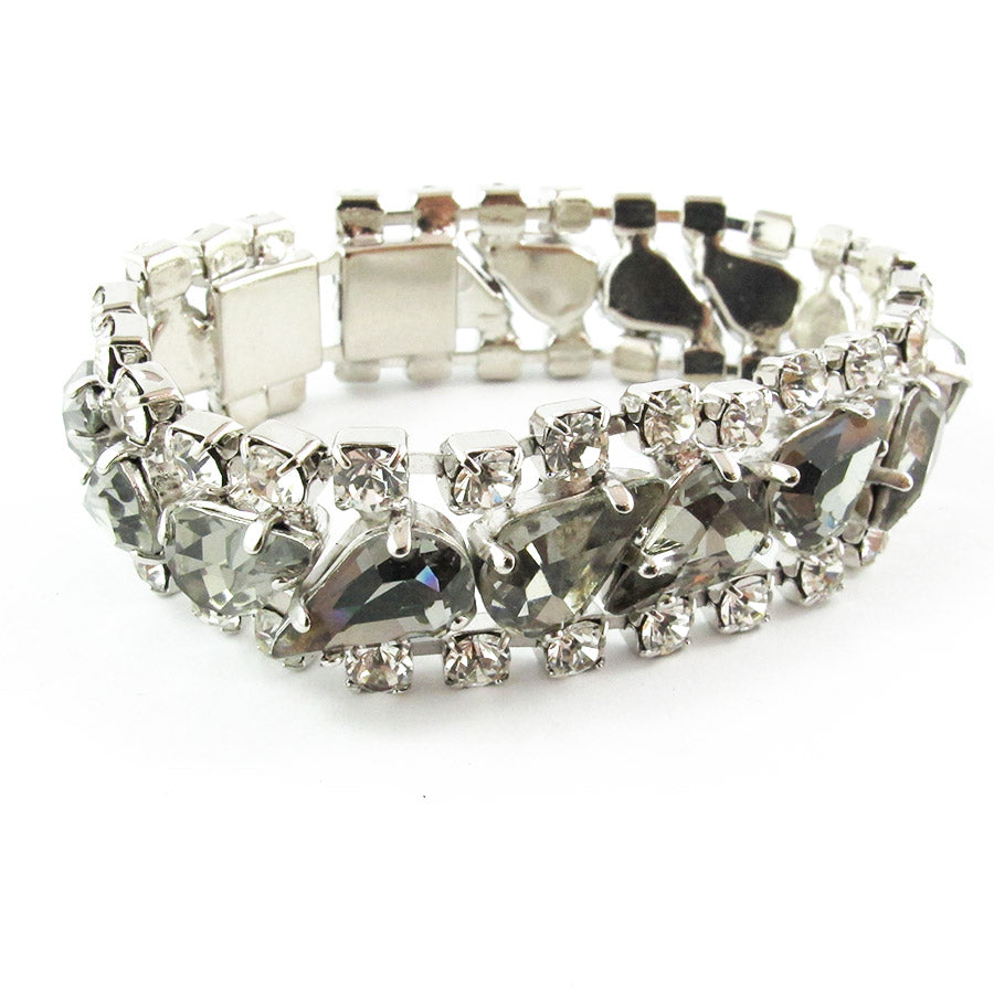 Harlequin Market Crystal Bracelet - Black Diamond + Clear
