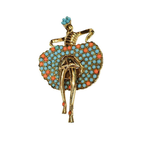 Vintage 1950's Dancer Brooch