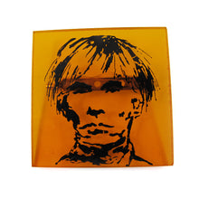 Load image into Gallery viewer, Signed 'C.D' Hand Painted 'Andy Warhol' Plastic Brooch
