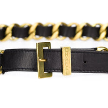 Load image into Gallery viewer, Vintage Chanel Signature Chain- Black Leather Signed Belt c. 1994